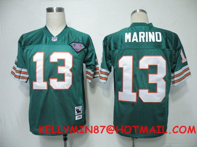 100% Stitiched,Miami Dolphins,Dan Marino,Larry Csonka,Throwback for men(China (Mainland))