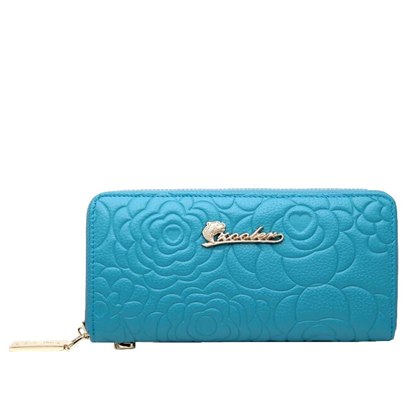 2016 Genuine Leather Women Wallet ZOOLER Brand Fashion Printing Holding Purse Cowhide Zipper Clutch Women Wallets<br><br>Aliexpress