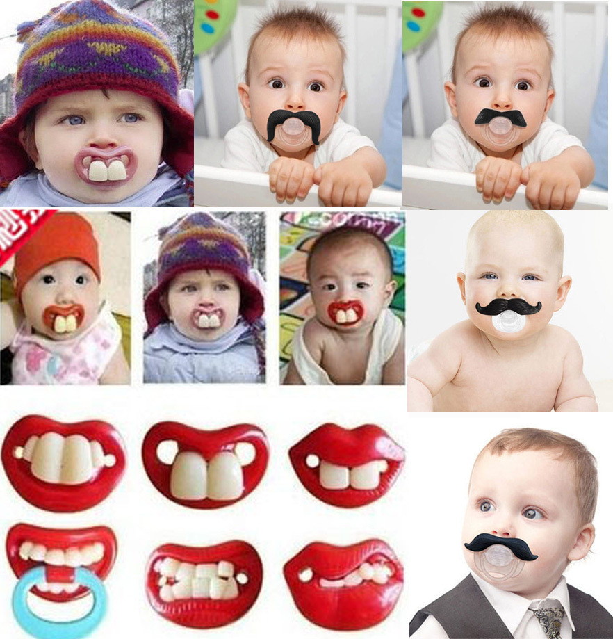 Silicone Joke Baby Pacifier Dummies Soother Prank Toddler Orthodontic Nipples Soft font b Feeding b font