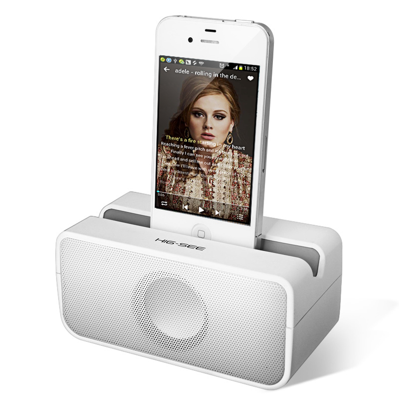 Wireless Induction Speakers Portable Music Sound Box Mini Speaker For iPhone 4/4S/5/5C/5S/6/6Plus(China (Mainland))