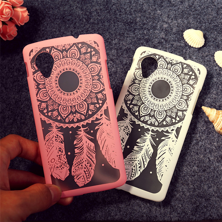 For Lg Google Nexus 5 Case Cover,High Quality Ultra Thin Dream Catcher Flower Hard PC case Cover For LG Google Nexus 5 D820 D821(China (Mainland))