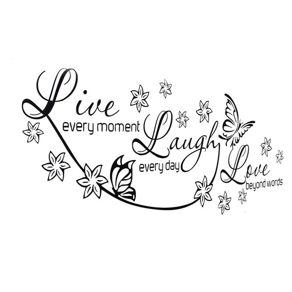 Aliexpress Com 150x60cm Vinyl Live Laugh Love Wall Art