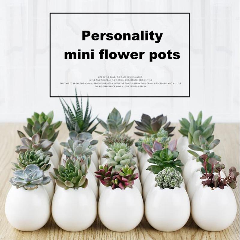 1PC Flower Pots Capita Skull Flower Pots Planters Desktop Accessories Home Decoration Modern Design Gifts White Ceramic Pots(China (Mainland))