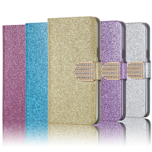 Buy Bling Rhinestone PU Leather Case SONY Xperia Z2 D6502 D6503 L50W Cover Original Flip Stand Wallet Phone Coque Card Slot for $2.97 in AliExpress store