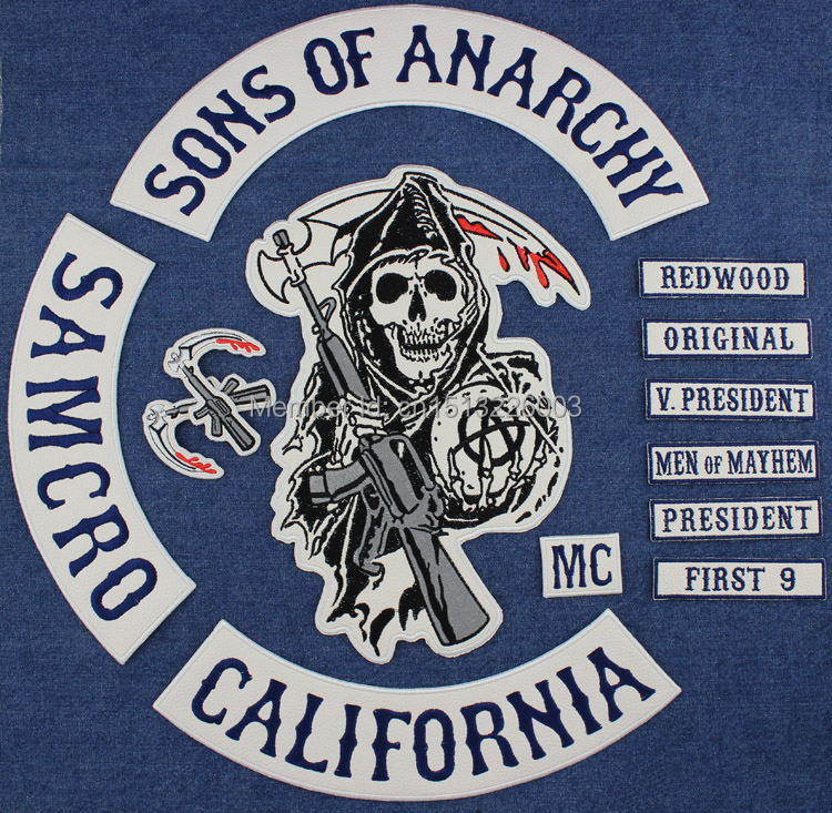 Best Quality Wholesale Original Sons Of Embroidery Twill Biker