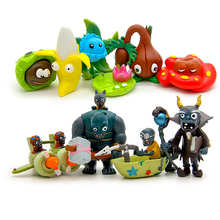 10pcs/lot new New Popular Game Plants vs Zombies Peashooter PVC Action Figure Model Toys Plants Vs Zombies Toys For Baby Gift