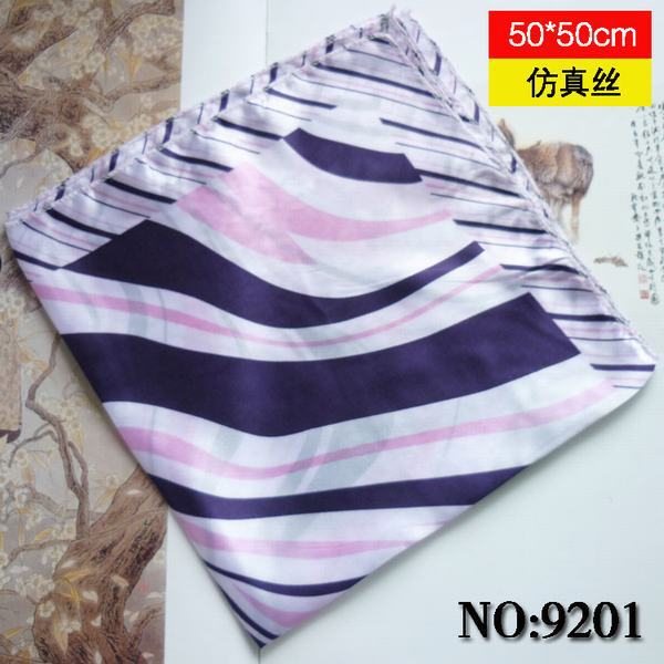 2014 stripes Women Polyester Small Square Scarves Printed New Design Autumn Winter Brand Casual Silk Scarf Headbands 50*(China (Mainland))