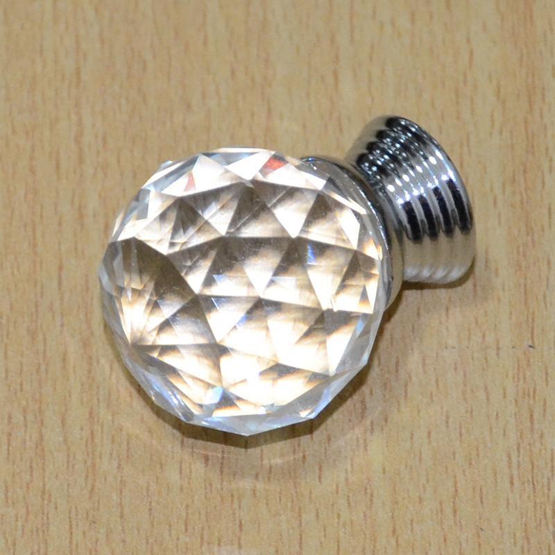 Гаджет  1pc 30mm Diamond Crystal Glass Door Knobs Drawer Cabinet Kitchen Pull Handles None Мебель