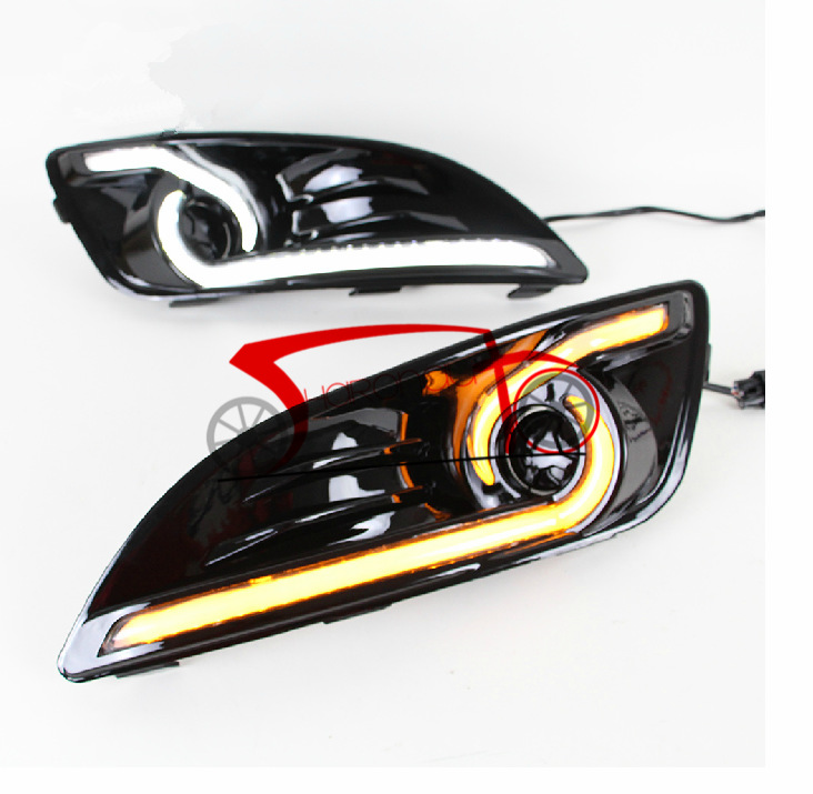 New LED Daytime Running Light For Ford Fiesta DRL Fog 2013 2014 2015 Turn Signal<br><br>Aliexpress