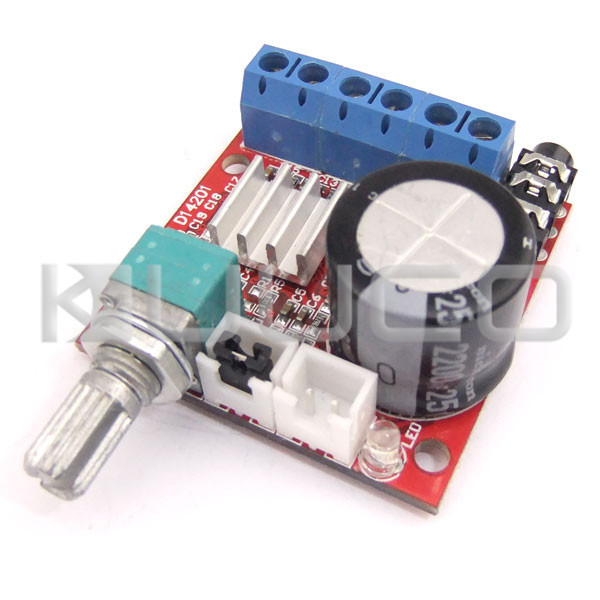 5 PCS/LOT Dual-Channel 10W+10W Power Amplifier DC 12V hifi stereo Board Class D Audio Control Module - Kuuco's store