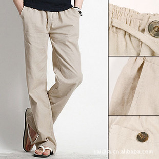 linen khaki pants for men - Pi Pants