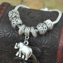 Bohemian Vintage Tibetan Silver Plated Bracelet Carving Elephant Tibetan Charm Bracelets Jewelry(China (Mainland))