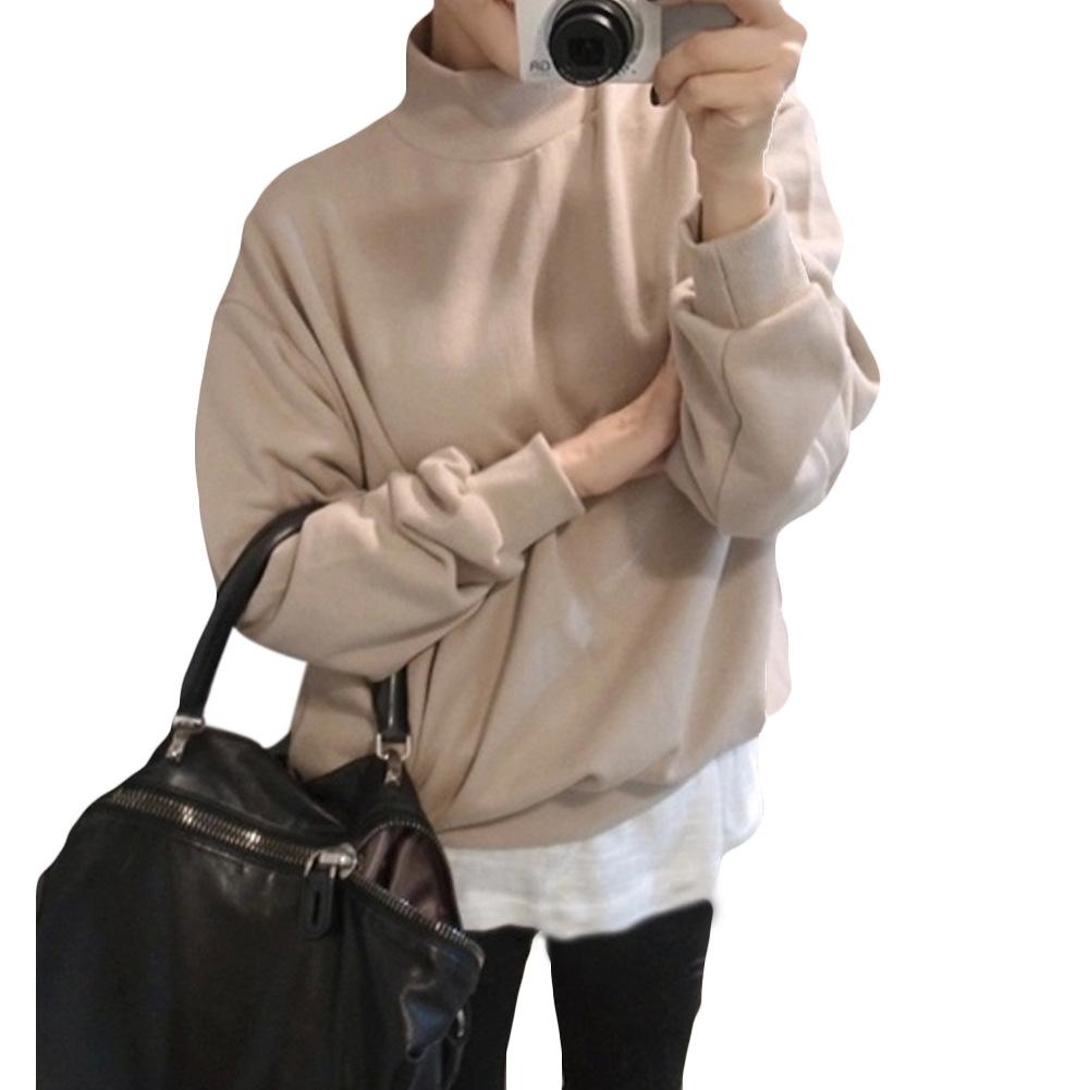2015 autumn winter harajuku hoodies women candy color solid sweatshirts loose warm fleece bottoming pullover women tracksuit top