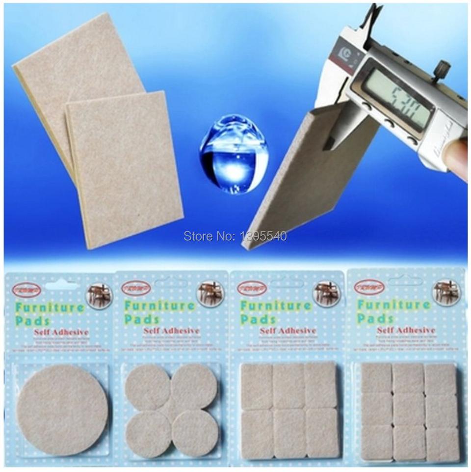 New One Set(2pcs 85x85mm) Table Leg Pads Adhesive Furniture Leg Feet Non Slip Rug Felt Pads Protetcors Anti Slip Mat Fittings(China (Mainland))