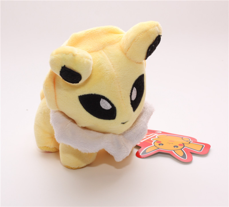 New Coming 1pc Pokemon Plush Toys 12cm Pokemon Jolteon Voltali Blitza Eevee Soft Stuffed Dolls Toy Free&Drop Shipping(China (Mainland))
