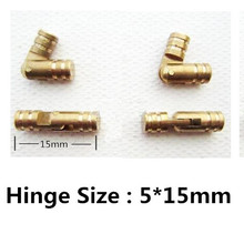 4000pcs size 5*15mm Pure Copper Brass Wine Jewelry Box Hidden Invisible Concealed Barrel Hinge(China (Mainland))