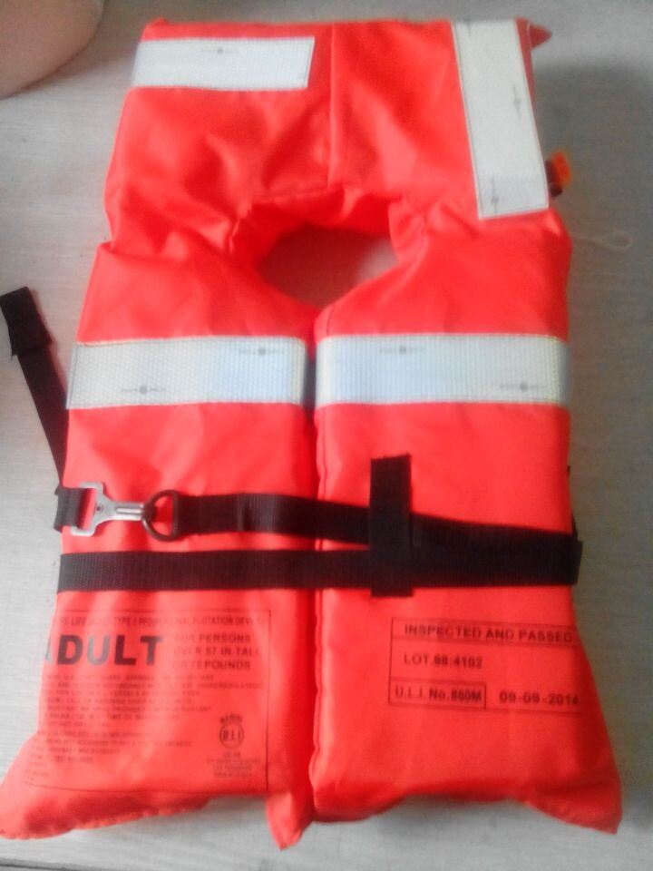 Personal flotation device SOLAS approved life jacket 275N adult life jacket ,marine life jacket 100N(China (Mainland))