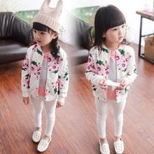 Children clothing flowers dinosaur casual baby girls jacket mini rodini o-neck cardigan top moleton infantil spongebob polerones(China (Mainland))