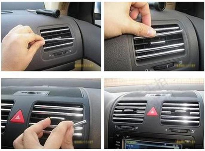 Car styling 2-meter stickers car aircon sticker decal air conditioner outlet strip chevrolet cruze ford focus 3 2 - HengFang Co., Ltd. store