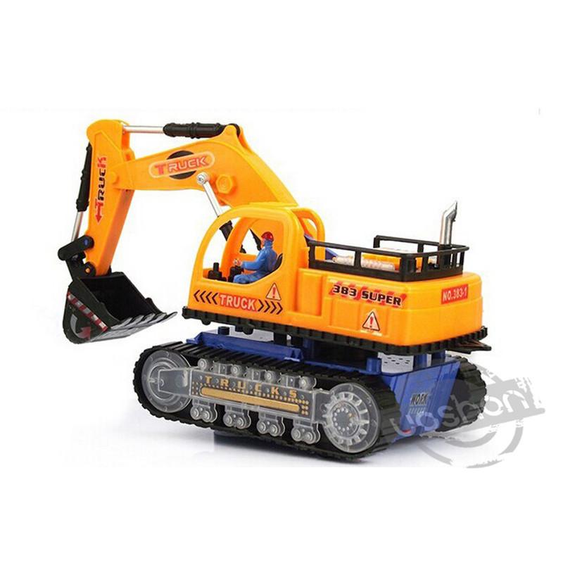 Kids Childrens Excavator Construction Toys Music Luminous Car Model New(China (Mainland))
