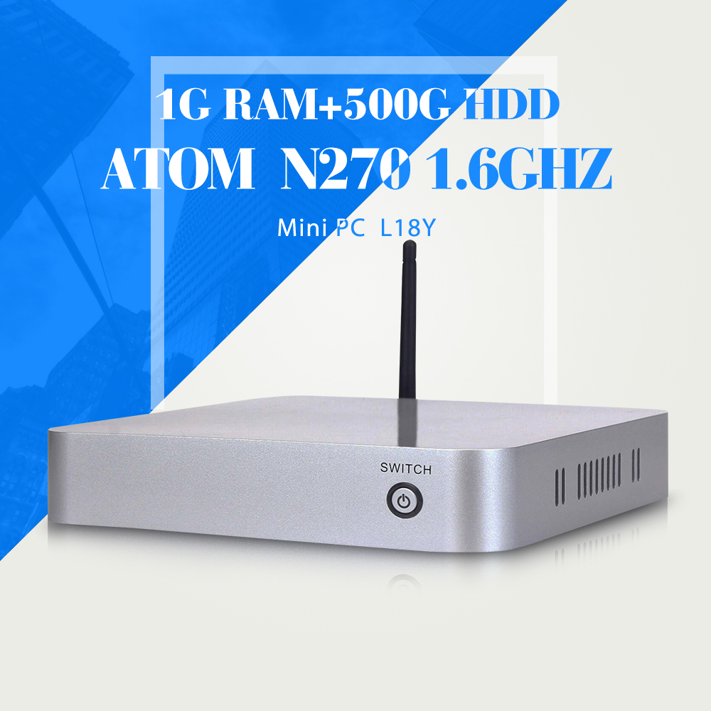 Low power low heat N270 N450 1g ram 500g hdd mini pc thin client laptop computer support hd video very small but powerfull PC(China (Mainland))