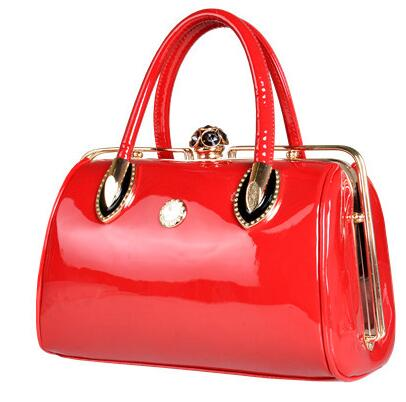 All-match Fashion Womens handbags Patent leather Married Bridal Evening Tote bag Female Shoulder Bags 1/4<br><br>Aliexpress
