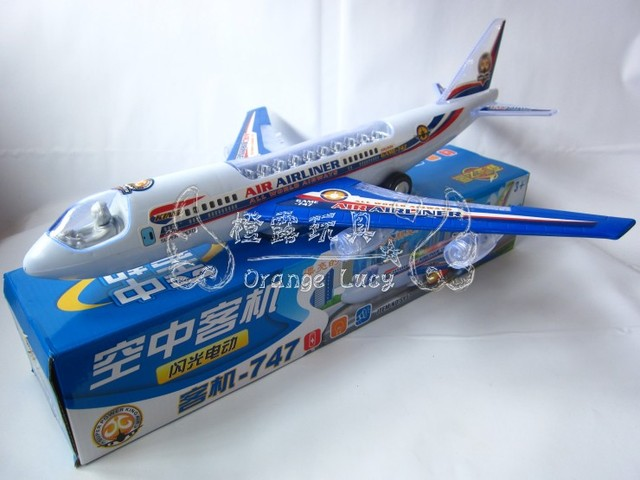 747 jetliner child electric universal wheels music airliner hm toy sy57