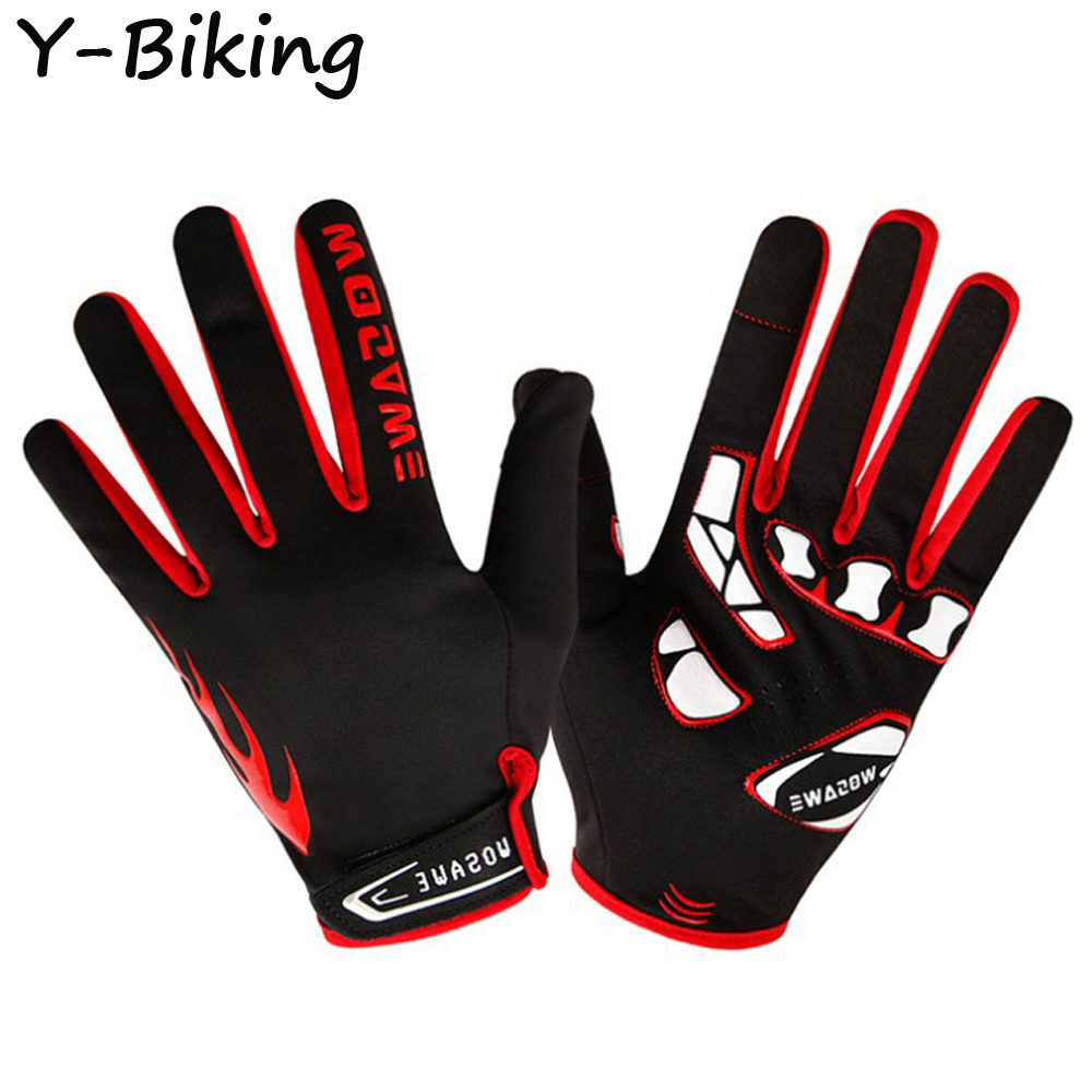 Winter Fleece Full Finger Gloves Mountain MTB Bike Bicycle Windproof Sports Riding Cycling Gloves YB-WFD-32(China (Mainland))