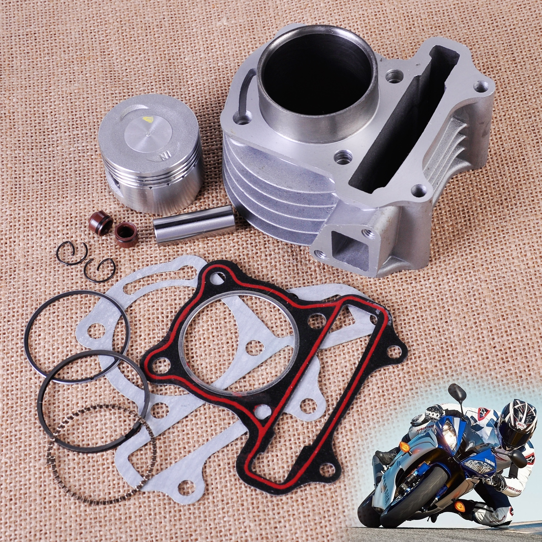 47mm Big Bore Kit Cylinder Piston Rings fit GY6 50cc 60cc 80cc 4 Stroke Scooter Moped ATV 139QMB 139QMA engine