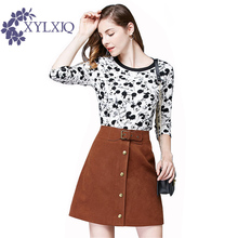 Buy Fashion Single Breasted Skirts Women 2017 Spring Autumn High Waist Word Casual Mini Skirt Pocket Short Skirt Large Size JA787 for $20.34 in AliExpress store