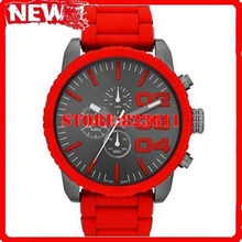 DZ4289 dz4289 Quartz Chronograph Red Silicone Wrapped Stainless Steel Men s DZ4289 Original Box Logo