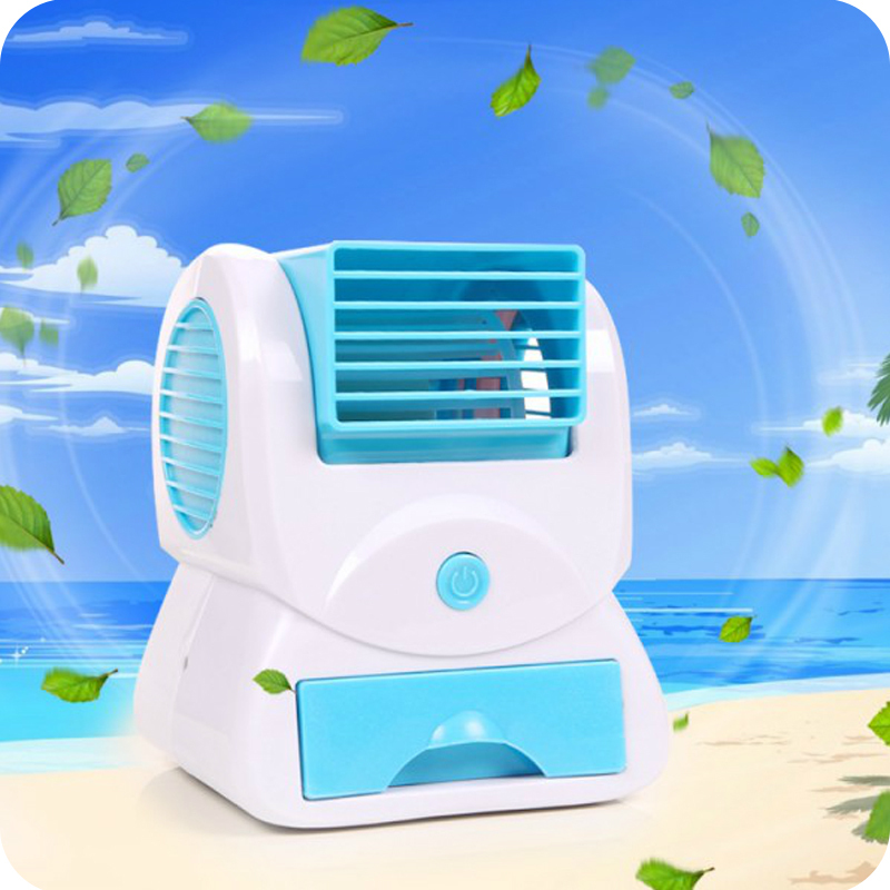 2015 New USB Battery Air Conditioner Portable Bladeless Fan Turbineir Water Cooling Fan Energy Saving Ventilator(China (Mainland))