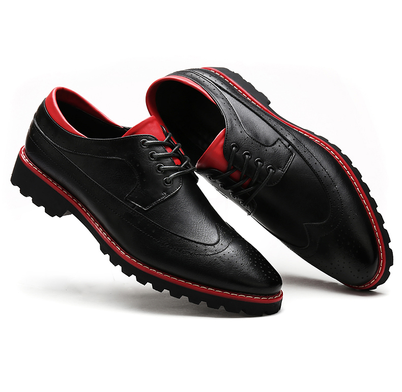 Men's Luxury Formal Loafers Man Red Bottom Soft Leather Flats 2016 Fashion Dress Moccasins Shoes for Man Autumn Flat SlipOn /8