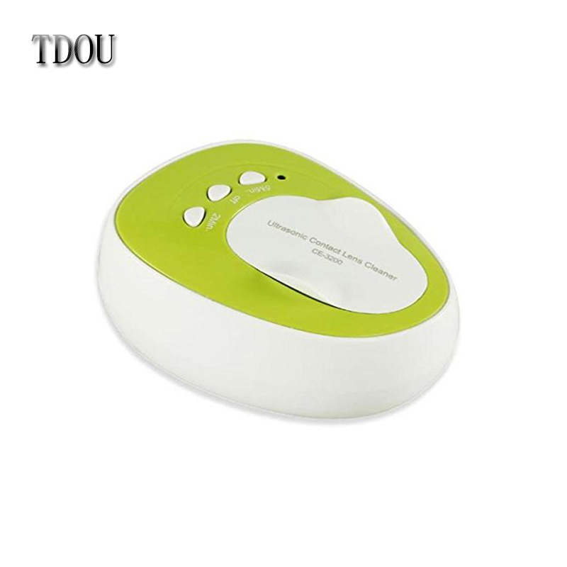TDOU CE-3200 Mini Ultrasonic Contact Lens Cleaner Kit Daily Care Fast Cleaning New Green Free Shipping(China (Mainland))