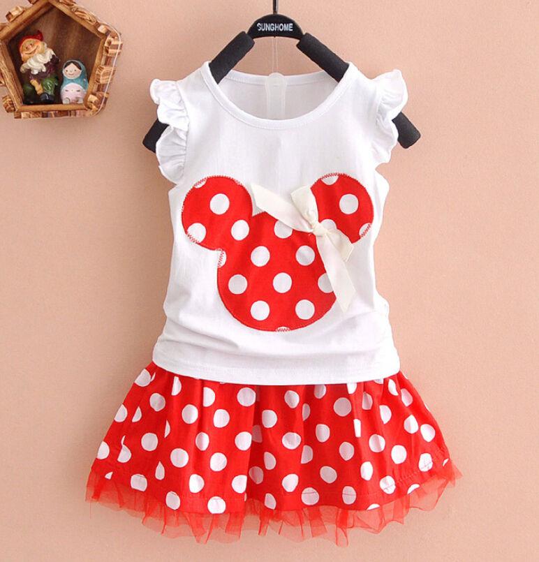 2pcs baby girls dress cute minnie mouse dresses kids toddler t shirt