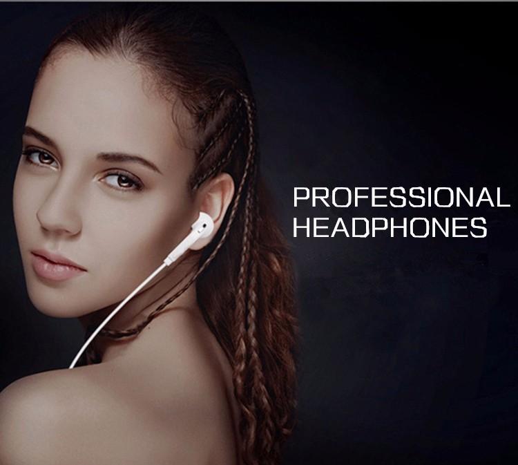 Hot sale 3.5mm Stereo Earphone Headphone Bass Headset Hifi Earbuds with microphone for Samsung Galaxy S6 Edge i9800