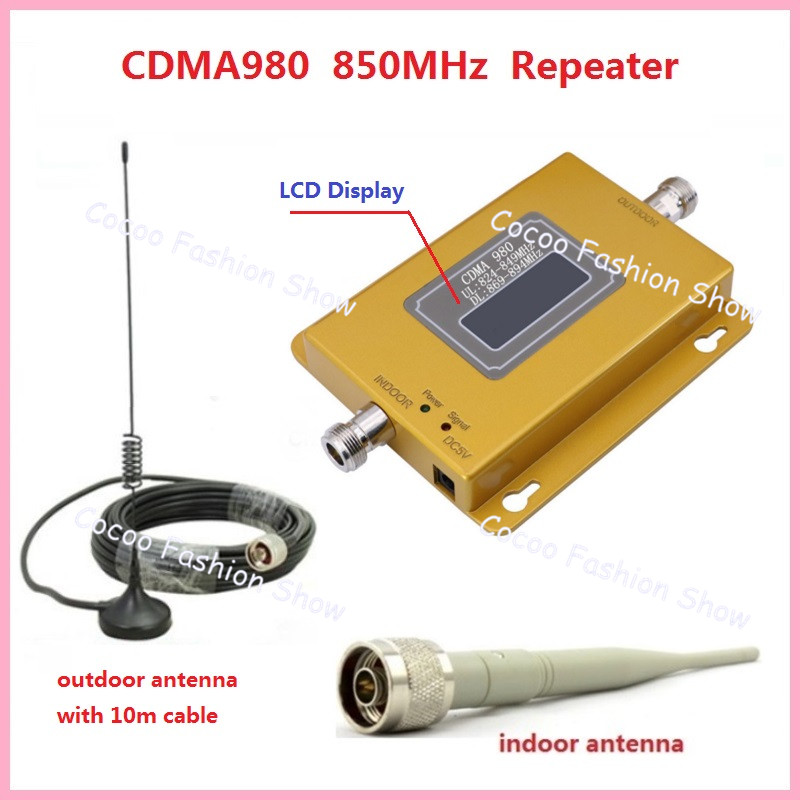 70dB LTE UMTS GSM CDMA 850MHz 2G 3G 4G Wireless Mobile Phone Repeater Signal Booster Signal Repeater Amplifier + Cable + Antenna(China (Mainland))