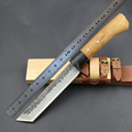 Jeslon Fixed Damascus Handmade Knife Forged Pattern Damascus Steel Blade Straight Outdoor Hunting Knife EDC Survival