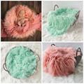2016 50 60cm Faux Fur Blanket Basket Filler Mongolian Fur Baby Photography Prop Blanket Baby Photography
