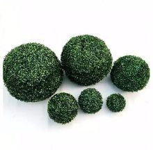 CAMMITEVER דשא בונסאי מלאכותי גננות נוי 12/18/23/28/35cm ירוק סימולציה כדור חנות קניון אספקת מקורה חיצוני קישוט(China)