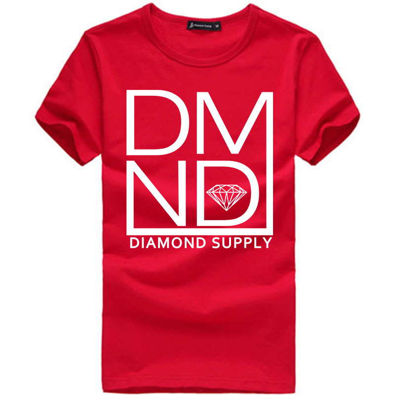 Summer Fashion Diamond Supply t shirt Men's t shirts Cool diamond supply tshirt Unique Design Short Sleeve Man Top Shirts DMND