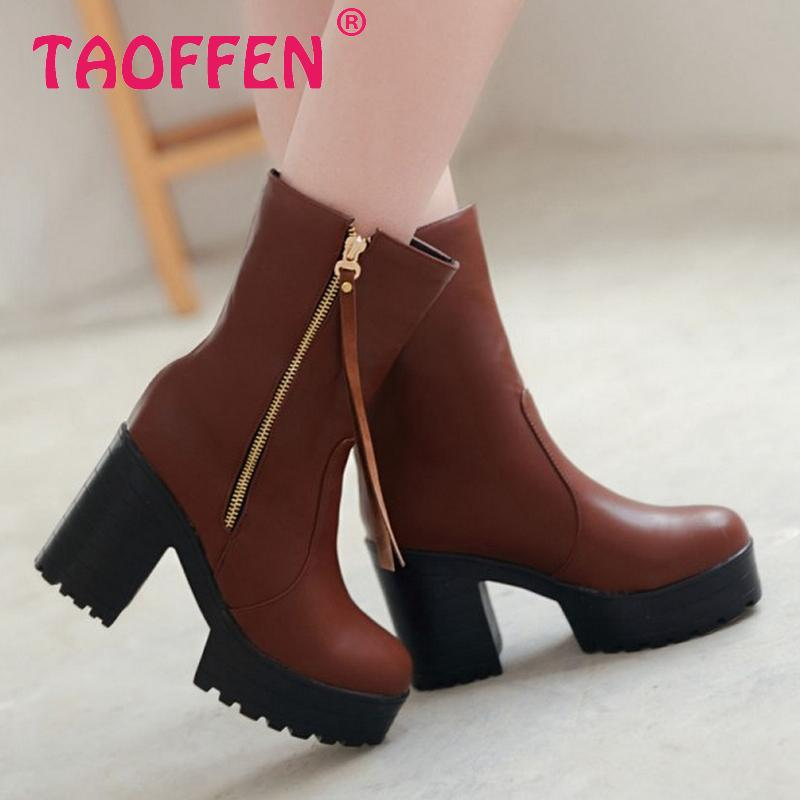 women high heel half short ankle boots military autumn winter botas fashion rivets footwear heels boot shoes P19931 size 34-39