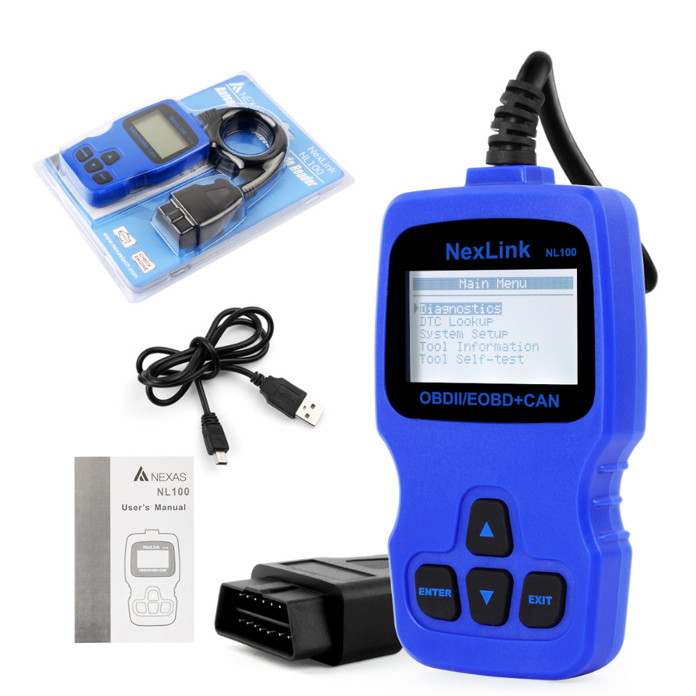 2016 Automotive Scanner for Chile with Spanish Univresal Scan Tool NL100 Read Erase Codes Auto Tester OBD2 Live Data Stream(China (Mainland))