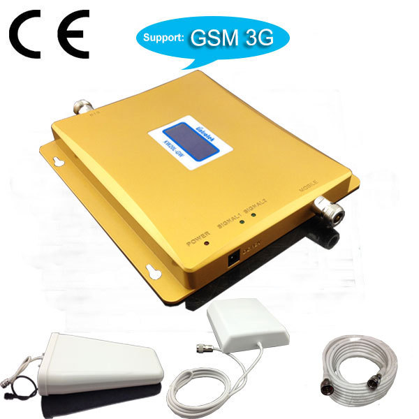 LCD Display Dual band 2G 3G Repeater GSM 3g Cell phone BOOSTER EDGE GSM HSDPA 3G Signal REPEATER Amplifier(China (Mainland))