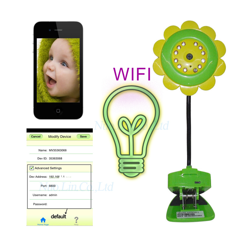 Wireless Remote Control Baby Monitor, Wifi ip Baby Camera Flower Design For Smartphone, Digital baby monitor Surveillance Bebe(China (Mainland))