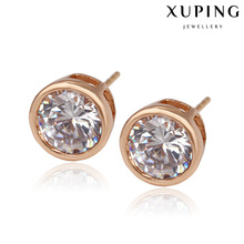 Christmas discount Xuping Elegant Earring New Design Gold Color Plated Synthetic CZ Jewelry Wedding Stud Earrings Y8-201607(China (Mainland))