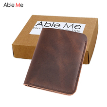 Buy AbleMe Vertical Section 2 Folded Slim Short Section Men Leather Handmade Wallet Simple Style Custom Name Mini Purse Gift Men for $12.41 in AliExpress store