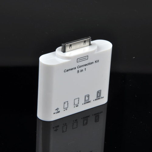 5in1 Camera Connection USB SD TF MMC MS Card Reader 5 in 1 Adapter for Apple iPad 3 2 1 Card Reader(China (Mainland))