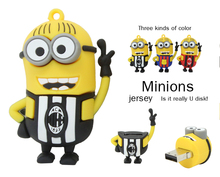 2015 hot sale pen drive minion usb flash drive jersey minions 2g/4g/8g/16g flash card usb 2.0 flash memory stick free shipping(China (Mainland))