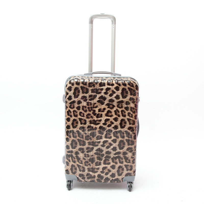 20'' 24'' 28'' Leopard Zebra , ABS + PC Trolley Case Suitcase,Hardside Luggage,Leopard Zebra luggage,women luggage travel bags(China (Mainland))